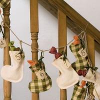 Как сшить гирлянду из рождественских носков своими руками