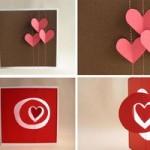 Простые примеры валентинок, которые легко сделать самой.