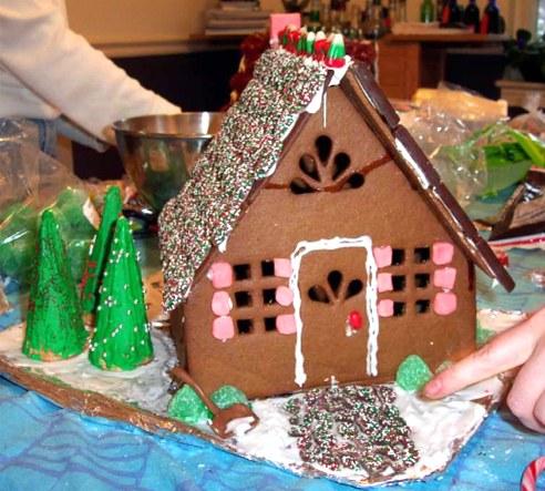 Рождественские примеры пряничных домиков