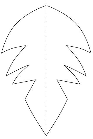 Варианты гребня для варежки-дракона