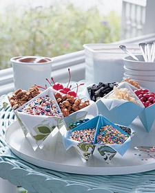 Контейнеры для сладостей из бумаги