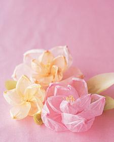 цветы из гофрированной креповой бумаги