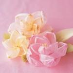 цветок из гофрированной бумаги
