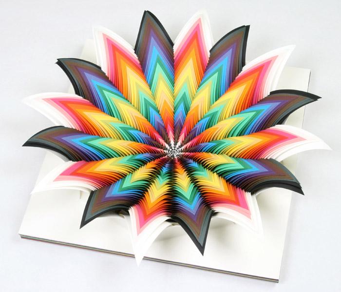 Узоры из цветной бумаги