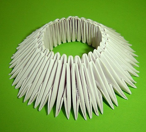 оригами лебедь двойной