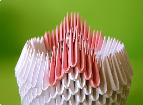 оригами модульное двойной лебедь