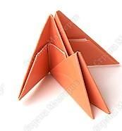 оригами лебедь радужный