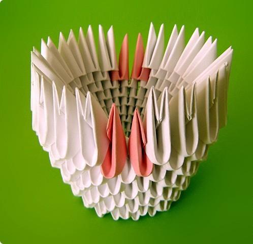 оригами модульное лебедь двойной