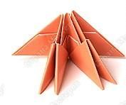 оригами радужный лебедь