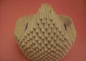 оригами лебедь из модулей