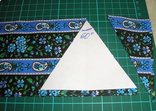 вырезаем треугольники