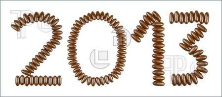 Наборная новогодняя открытка 2013