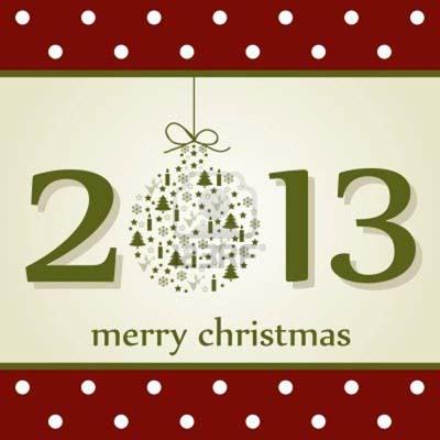 Открытка счастливого Рождества 2013