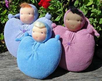 Простейшие вальдорфские куклы