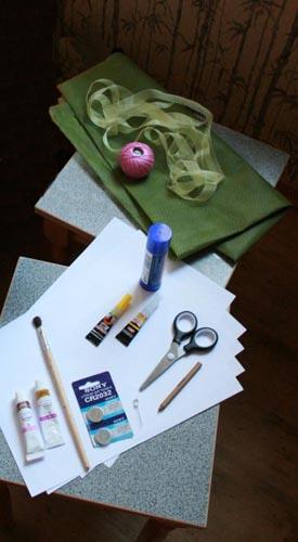 Материалы для изготовления японского фонарика