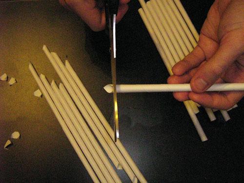 Изготовление каркаса японского фонарика из бумаги