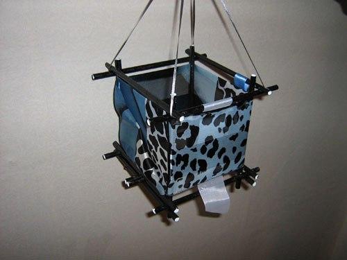 Пример готового японского фонарика из бумаги