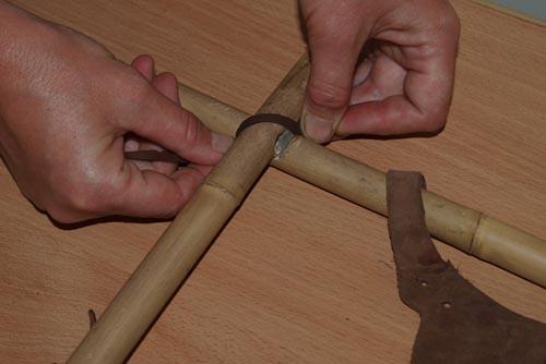 Процесс изготовления рамки для фото из бамбука
