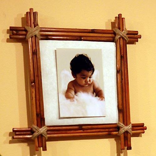 Готовая рамка для фотографии из бамбука