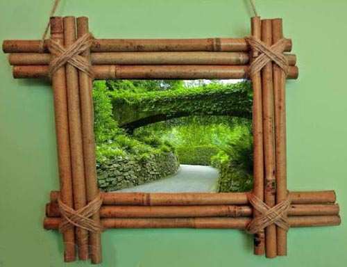 Рамка для фото из бамбука